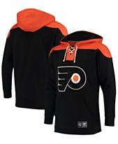 Majestic Men s Philadelphia Flyers Breakaway Lace Up Hoodie e8de1d1c2