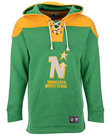 Majestic Men's Minnesota North Stars Breakaway Lace Up Hoodie