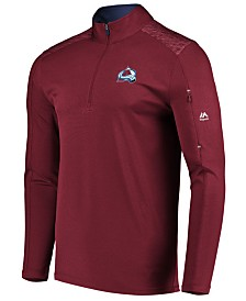 Majestic Men's Colorado Avalanche Ultra Streak Half-Zip Pullover