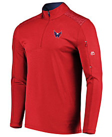 Majestic Men's Washington Capitals Ultra Streak Half-Zip Pullover
