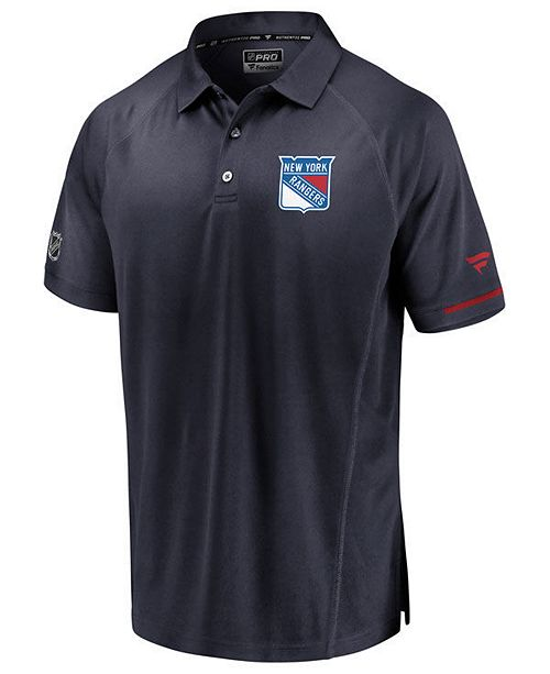 Majestic Men's New York Rangers Rinkside Pro Polo