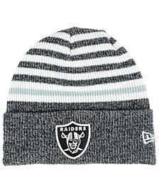 New Era Oakland Raiders Striped Cuff Knit Hat