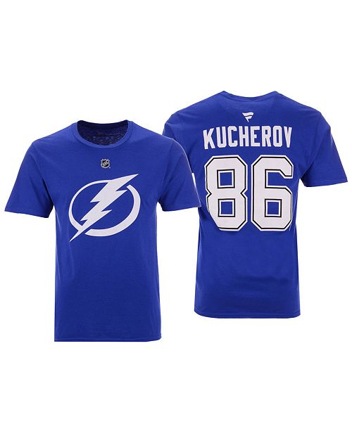 Majestic Men's Nikita Kucherov Tampa Bay Lightning Authentic Stack Name & Number T-Shirt