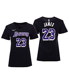 5th & Ocean Women's LeBron James Los Angeles Lakers Player Name and Number T-Shirt