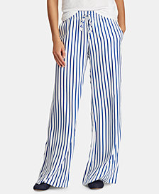 Lauren Ralph Lauren Petite Striped Twill Pants