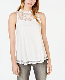 BCX Juniors' Lace Tank Top
