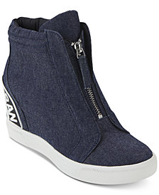 DKNY Women's Connie Wedge Sneakers, Created For Macy's