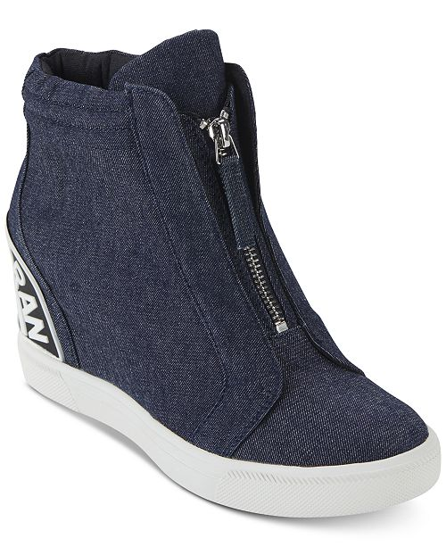 119422a914a DKNY Women's Connie Wedge Sneakers, Created For Macy's ...