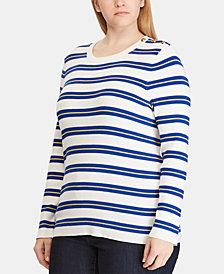 Lauren Ralph Lauren Plus Size Striped Sweater