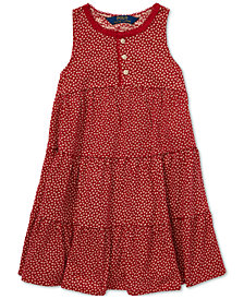 Polo Ralph Lauren Toddler Girls Floral-Print Cotton Dress