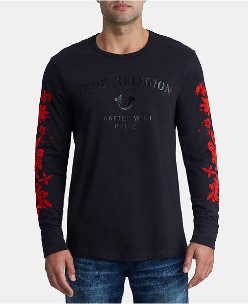 28acf72d61b True Religion Men s Bloom Logo T- Shirt   Reviews - T-Shirts - Men ...