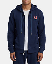 True Religion Men's Foil Buddha Zip-Front Graphic Hoodie