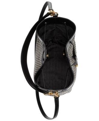 Houndstooth Calf Hair Debby II Drawstring Bag 1497dcdf0165f