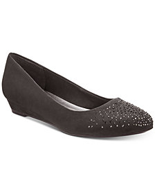Karen Scott Crystul Wedge Flats, Created for Macy's