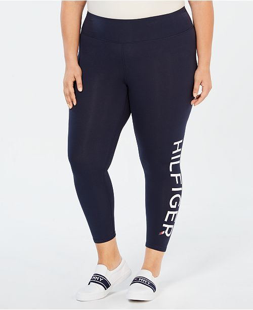 ff0a0ea231edf Tommy Hilfiger Plus Size High-Rise Logo Leggings & Reviews - Pants ...