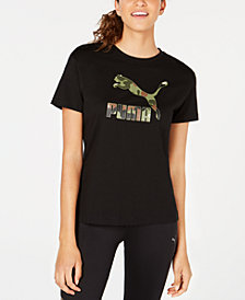 Puma Wild Pack Cotton Print-Logo T-Shirt