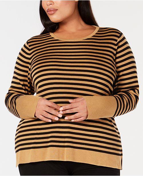 Eileen Fisher Plus Size Tencel® Striped Top