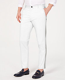 I.N.C. Men's Slim-Tapered Fit Side-Stripe Cropped Chinos, Created for Macy's