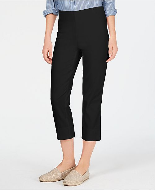 Charter Club Petite Pull-On Capri Pants, Created for Macy's