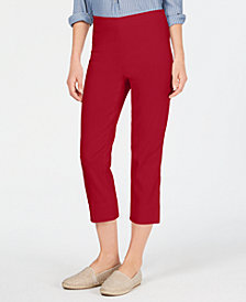 Charter Club Pull-On Tummy-Control Capris, Created for Macy's