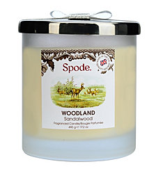 Spode Woodland 2 Wick Wax Filled Glass Candle