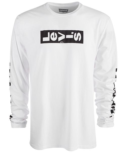 Levi's Men's Long-Sleeve Logo T-Shirt