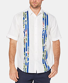 Cubavera Men's Printed Striped Short-Sleeve Linen Shirt
