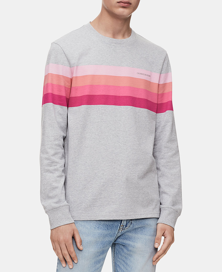 Calvin Klein Jeans Men s Long-Sleeve Gradient Stripe T-Shirt. Quickview. 2  colors f065be59e977