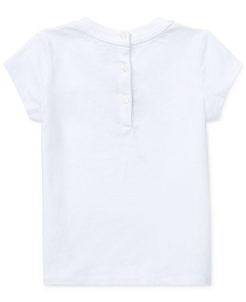 8f5086f4 Polo Ralph Lauren Baby Girls Graphic Cotton T-Shirt & Reviews ...