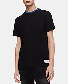 Calvin Klein Jeans Men's Striped-Collar Ringer T-Shirt