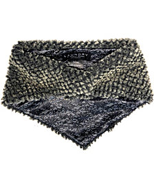 Laundry by Shelli Segal Baby Diamond Faux Fur Bandana