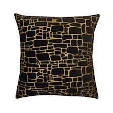 Precious Metals Collection Printed Faux Fur Pillow