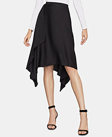 BCBGMAXAZRIA Asymmetrical Midi Skirt