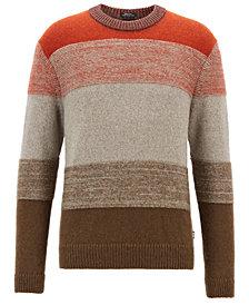 BOSS Men's Textured Striped Sweater
