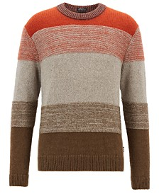 BOSS Men's Textured Striped Sweater