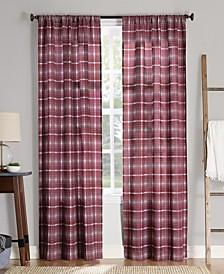"No. 918 Sebastian Plaid Semi-Sheer Rod Pocket Curtain Panel, 40"" W x 95"" L"