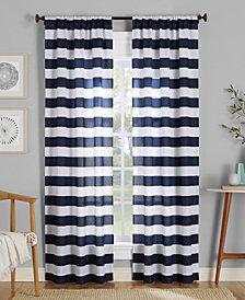 "Lichtenberg No. 918 Glendale Stripe Semi-Sheer Rod Pocket Curtain Panel, 40"" W x 63"" L"