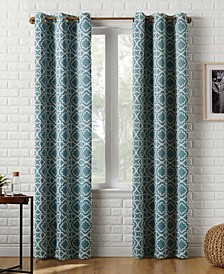 Sun Zero Barnett Trellis Blackout Grommet Curtain Panel Collection