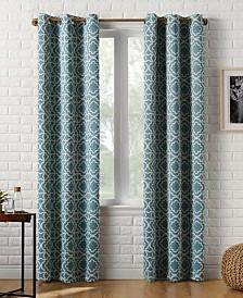 Sun Zero Barnett Trellis Blackout Grommet Curtain Panel Collection