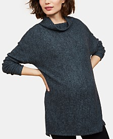 Motherhood Maternity Cowl-Neck Top