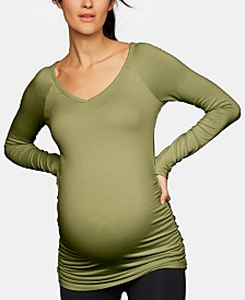 A Pea In The Pod Maternity V-Neck Ruched Top
