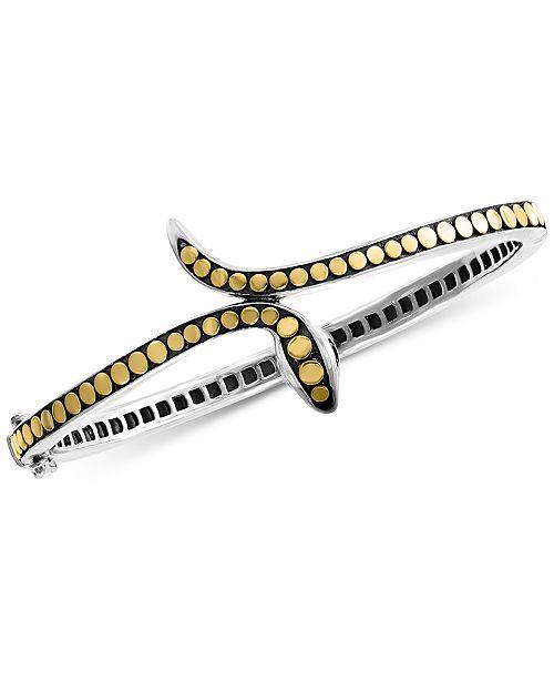EFFY Collection EFFY® Diamond Two-Tone Snake Bangle Bracelet in Sterling Silver & 18k Gold-Plate