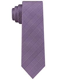 Calvin Klein Men's Tech Glen Plaid Tie