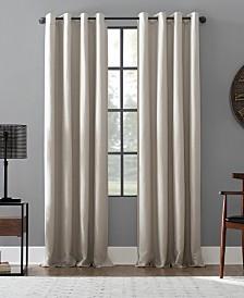 """Archaeo Linen Blend Blackout Grommet Top Curtain, 52"""" W x 95"""" L"""
