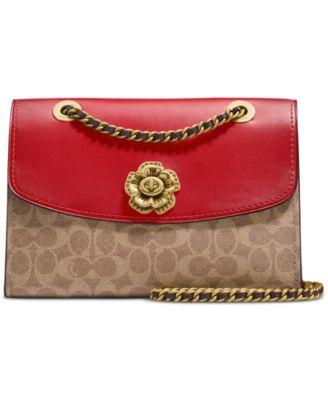 coach signature parker shoulder bag handbags accessories macy s rh macys com