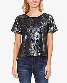 Vince Camuto Sequined Camo Top