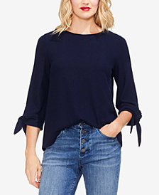 Vince Camuto Tie-Sleeve Brushed Jersey Top