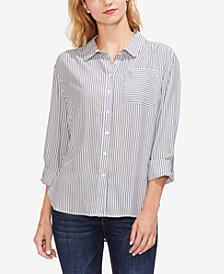 Vince Camuto Classic Striped Button-Up Shirt