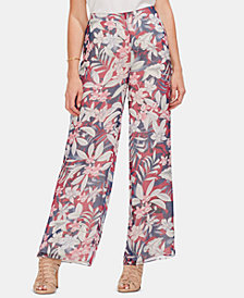 Vince Camuto Tropical Escape Wide-Leg Pants
