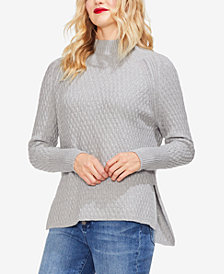Vince Camuto Textured Mock-Neck Sweater